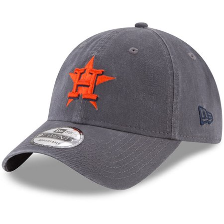 Houston Astros New Era Primary Logo Core Classic 9TWENTY Adjustable Hat - Graphite - OSFA