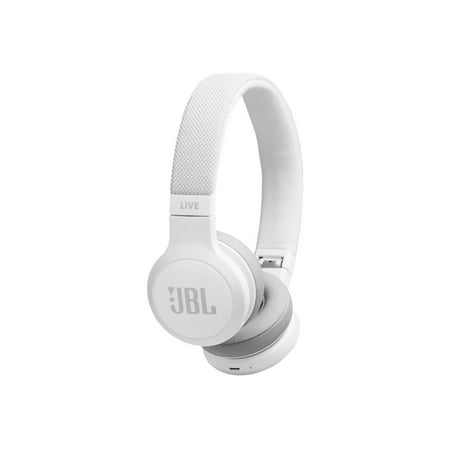 Live 400BT On-Ear Wireless Headphones with Voice Assistant (White)