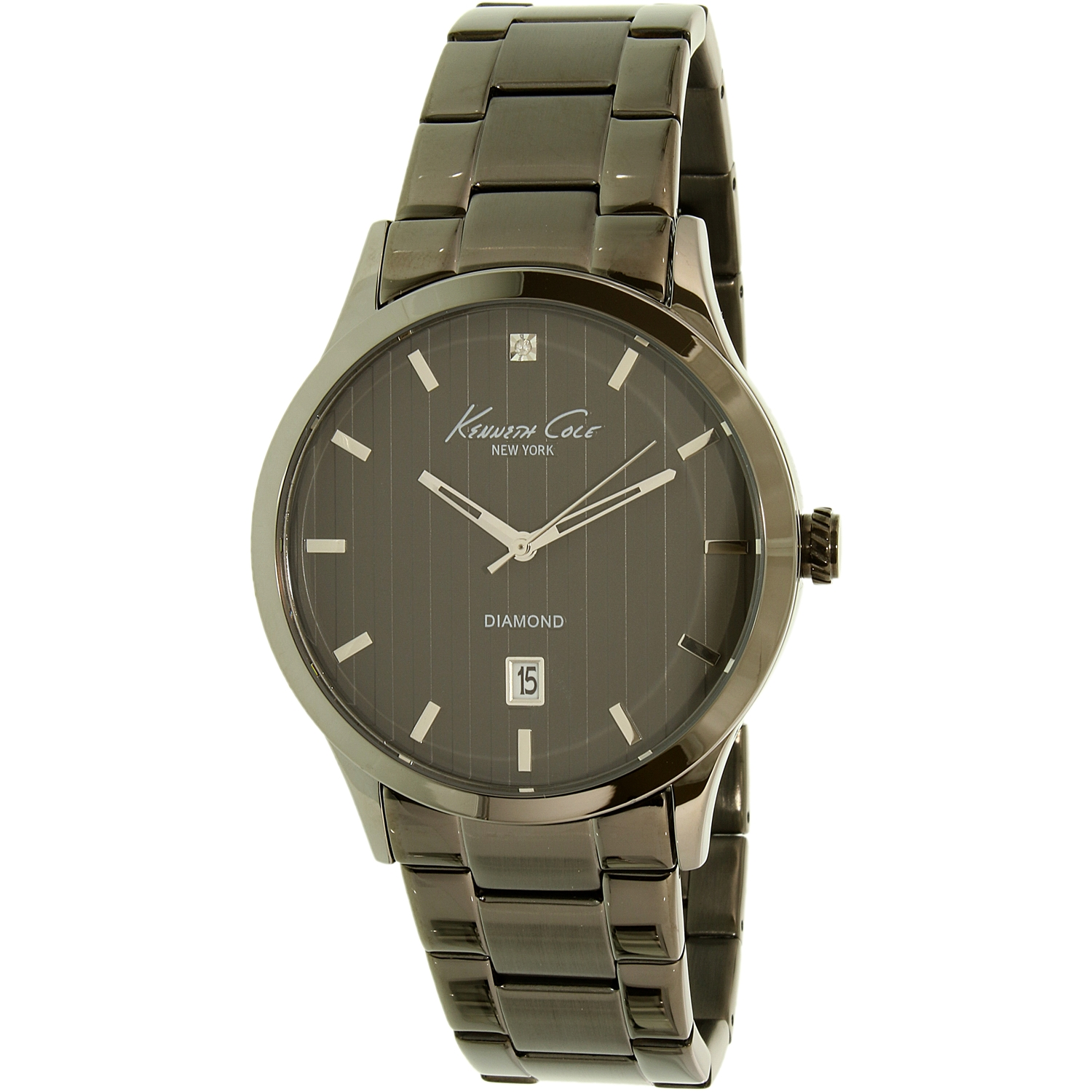Kenneth Cole Men's New York 10021097 Gunmetal Stainless-Steel Quartz Dress Watch