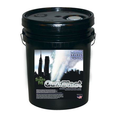 Quick Blast Fog Juice - CO2 Blast Effect Fog Machine Fluid - Best for Chauvet DJ Geysers - 5 Gallon