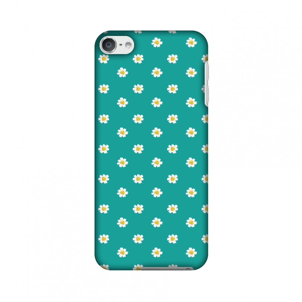 iPod Touch 6th Generation Case, Premium Slim Fit Handcrafted Printed Designer Hard Snap On Shell Case Back Cover for iPod Touch 6th Gen - Daisies