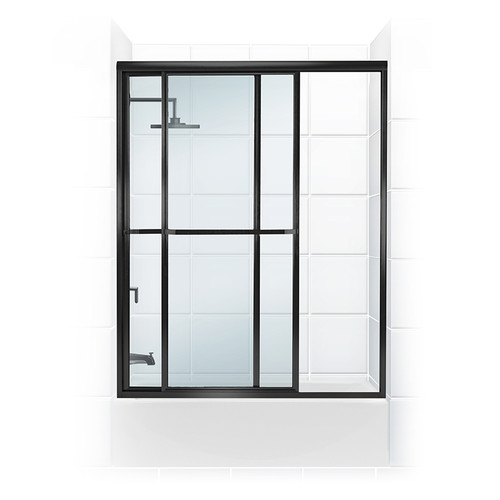 Coastal Shower Doors Paragon Series 55'' x 55'' Sliding Framed Tub Door