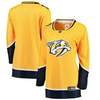 Nashville Predators Fanatics Branded Women's Breakaway Home Jersey - Yellow