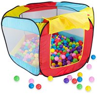 Imagination Generation Pop Up Ball Pit Tent with Mesh Netting and Carry Bag & 100 Ball Pit Balls