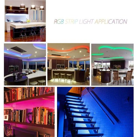 3/5/10M 3528 SMD LED Strip Light RGB Color Changing IR Remote Control Halloween - image 2 of 8