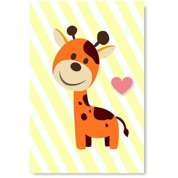 Friends Forever Canvas Wall Art Giraffe