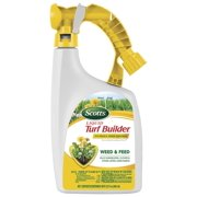 Scotts Liquid Turf Builder with Plus 2 Weed Control Fertilizer, 32 fl. oz. - Weed and Feed - Kills Dandelions, Clover and Other Listed Lawn Weeds - Covers up to 6,000 sq. ft.