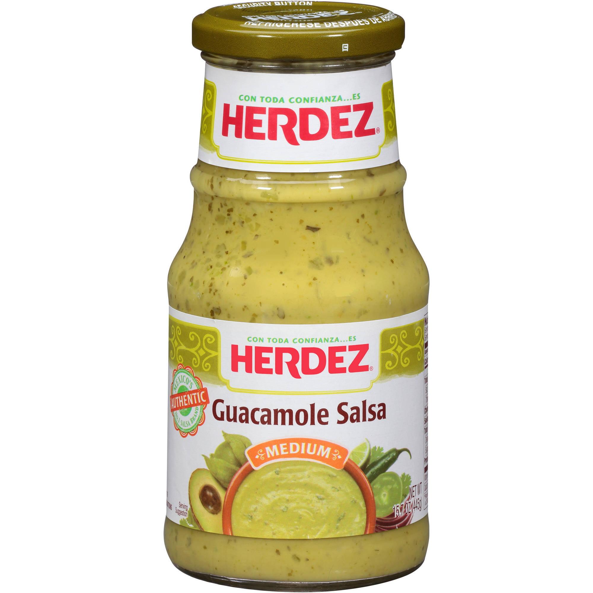 (2 Pack) Herdez Medium Guacamole Salsa, 15.7 oz