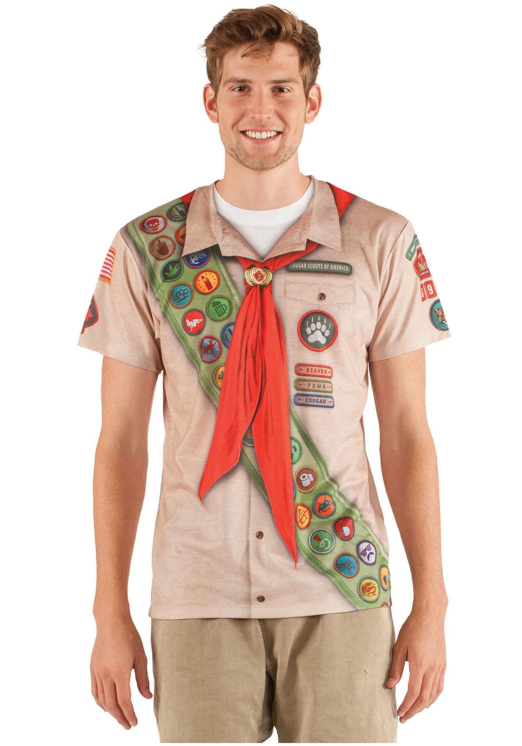 Plus Size Faux Real Boy Scout Shirt