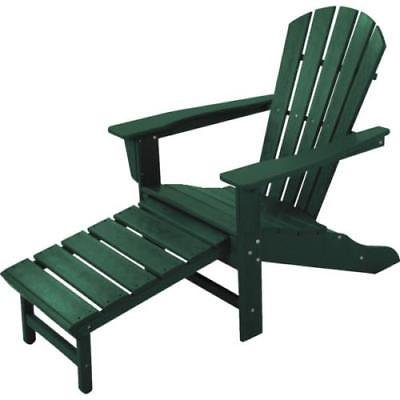 Polywood® South Beach Ultimate Adirondack Chair, Hideaway Ottoman,