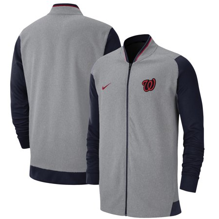 Washington Nationals Nike Game Performance Full Zip Jacket Gray Navy
