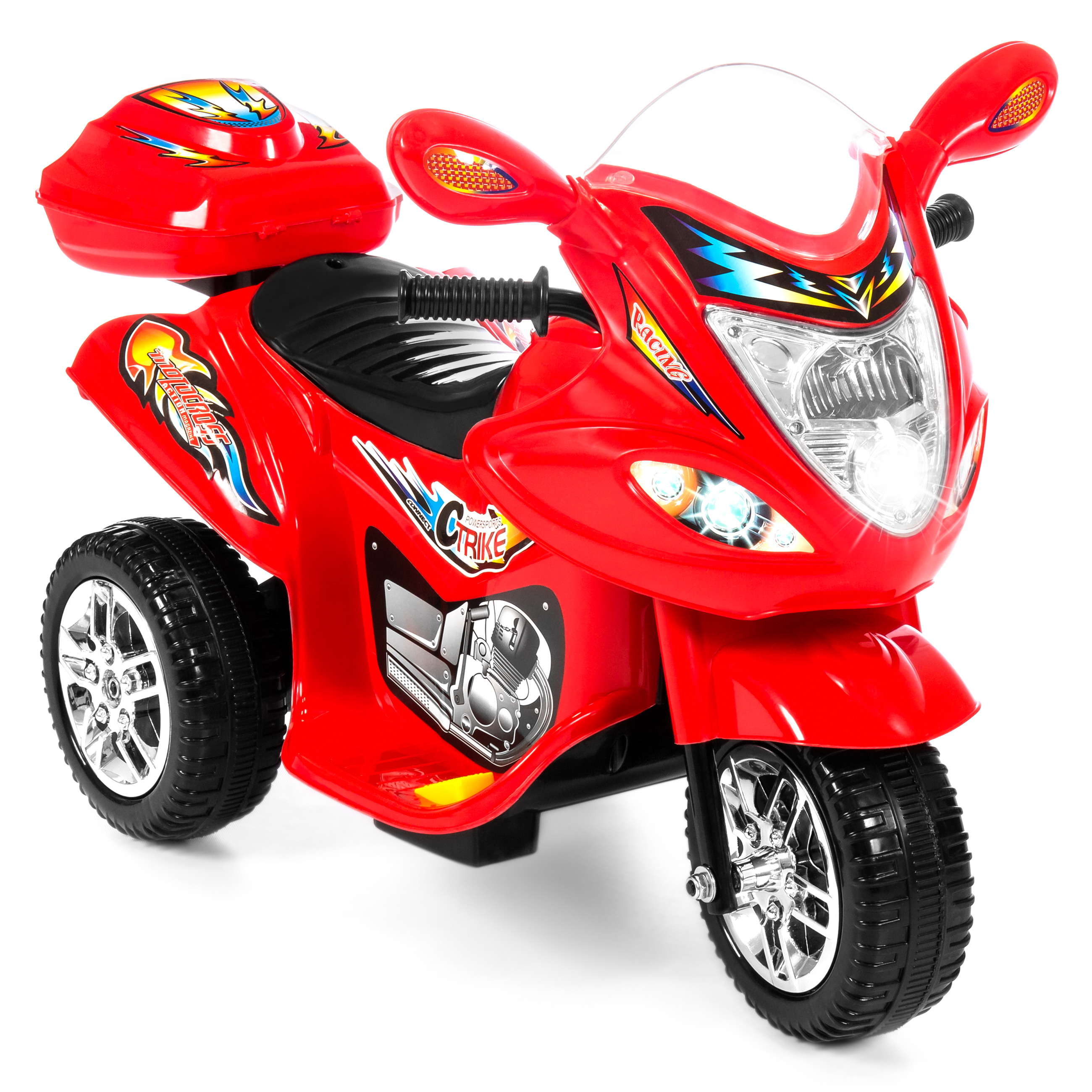 Best Choice Products Kids Ride On Battery Powered 6V 3 Wheel Motorcycle Toy w  LED Lights,... by