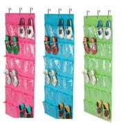 Fashion Shoes Space Door Hanging Organizer Rack Wall Bag Storage Closet Holder 24 Pockets