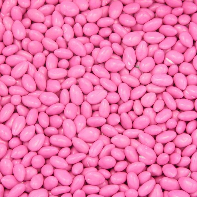 CHOCOLATE COVERED SUNFLOWER SEEDS LIGHT PINK, 5LBS