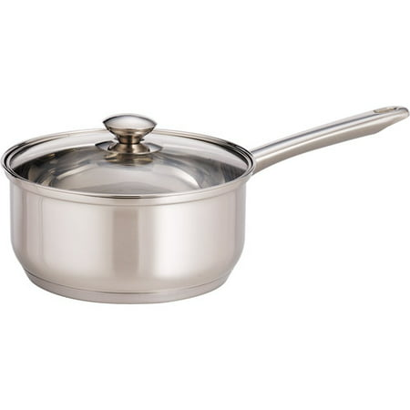 Mainstays 3 Quart Covered Sauce Pan (Best Stainless Steel Saute Pan)