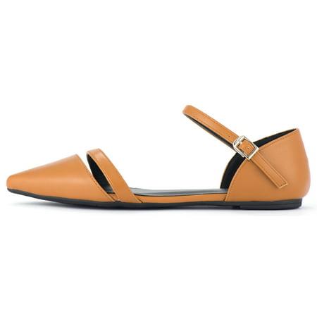 Mio Marino Women's Patti Ankle Strap Flats