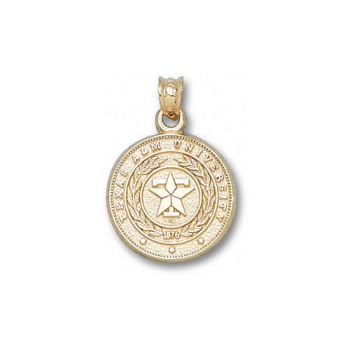 NCAA - Texas A&M Aggies 10K Gold Polished Seal Pendant