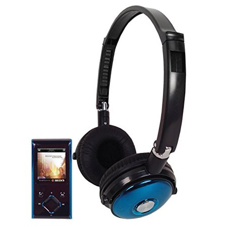 Supersonic IQ-8012BL 1 8 in  MP3 & MP4 Video Player with Headphones - 8GB  Blue
