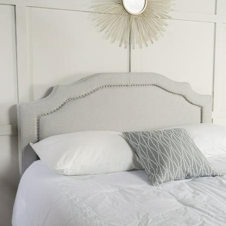 Barton Fabric Queen/ Full Headboard, Light Grey