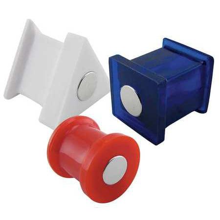 MASTER MAGNETICS 7507 Magnetic Push Pins,Red,White,Blue,PK6