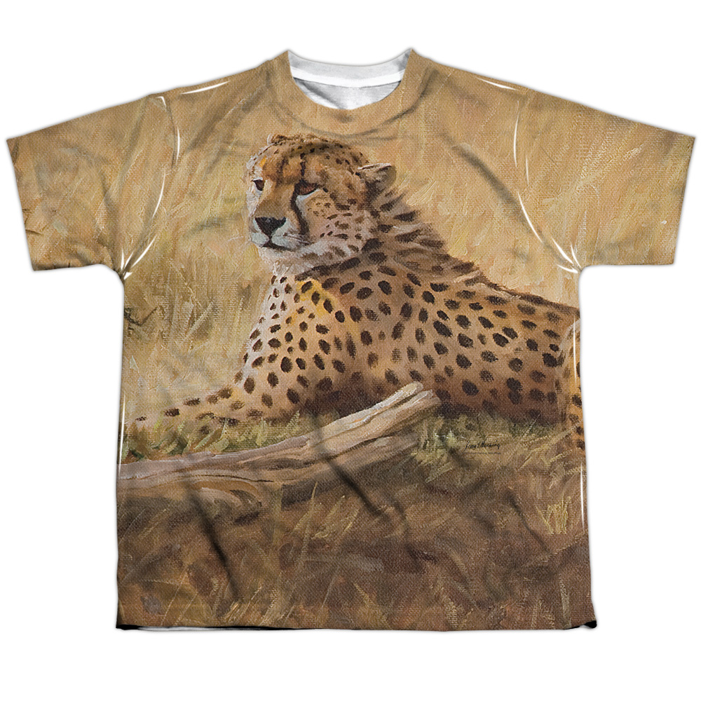 Wild Wings African Cats (Front Back Print) Big Boys Sublimation Shirt