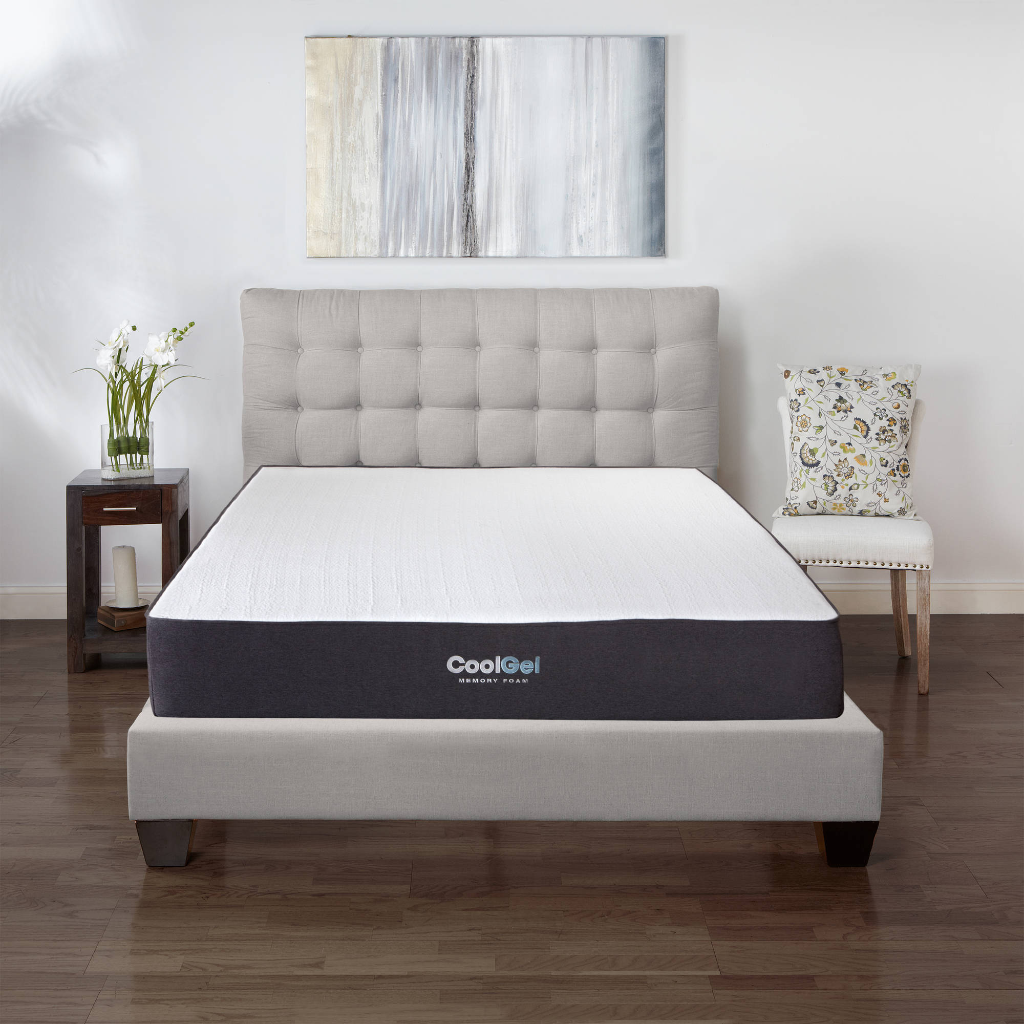 cool gel 105 ventilated gel memory foam mattress multiple sizes walmartcom