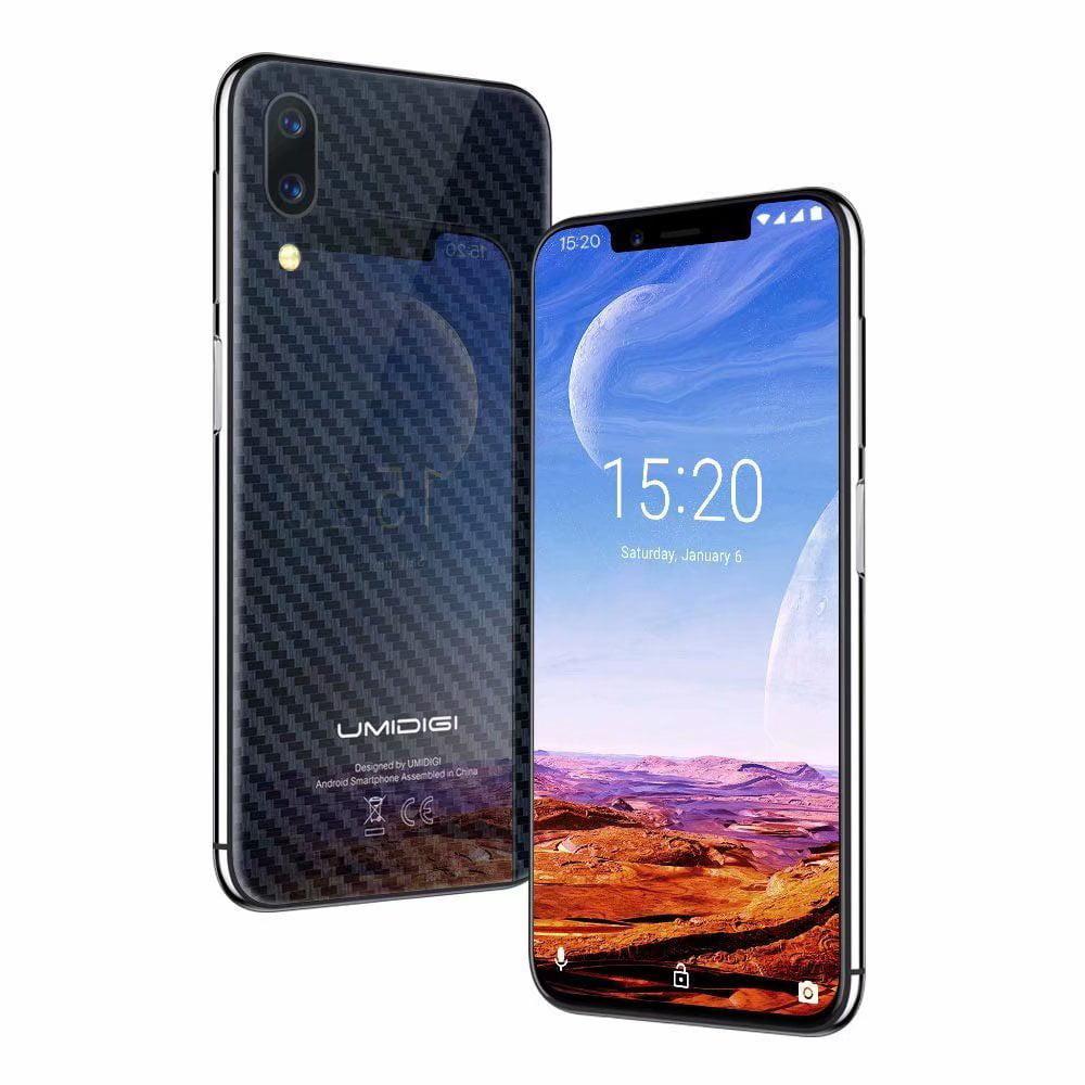 "Straight Talk Smartphone,UMIDIGI One Pro Global Edition,Unlocked Cell Phones Smartphone, Wireless Charging Dual 4G Face ID 5.9"" Screen P23 Octa Core 4GB+64GB,Carbon Fiber Black"