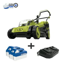Deals on Sun Joe 17-in Electric Walk Behind Push Lawn Mower Kit Bundle