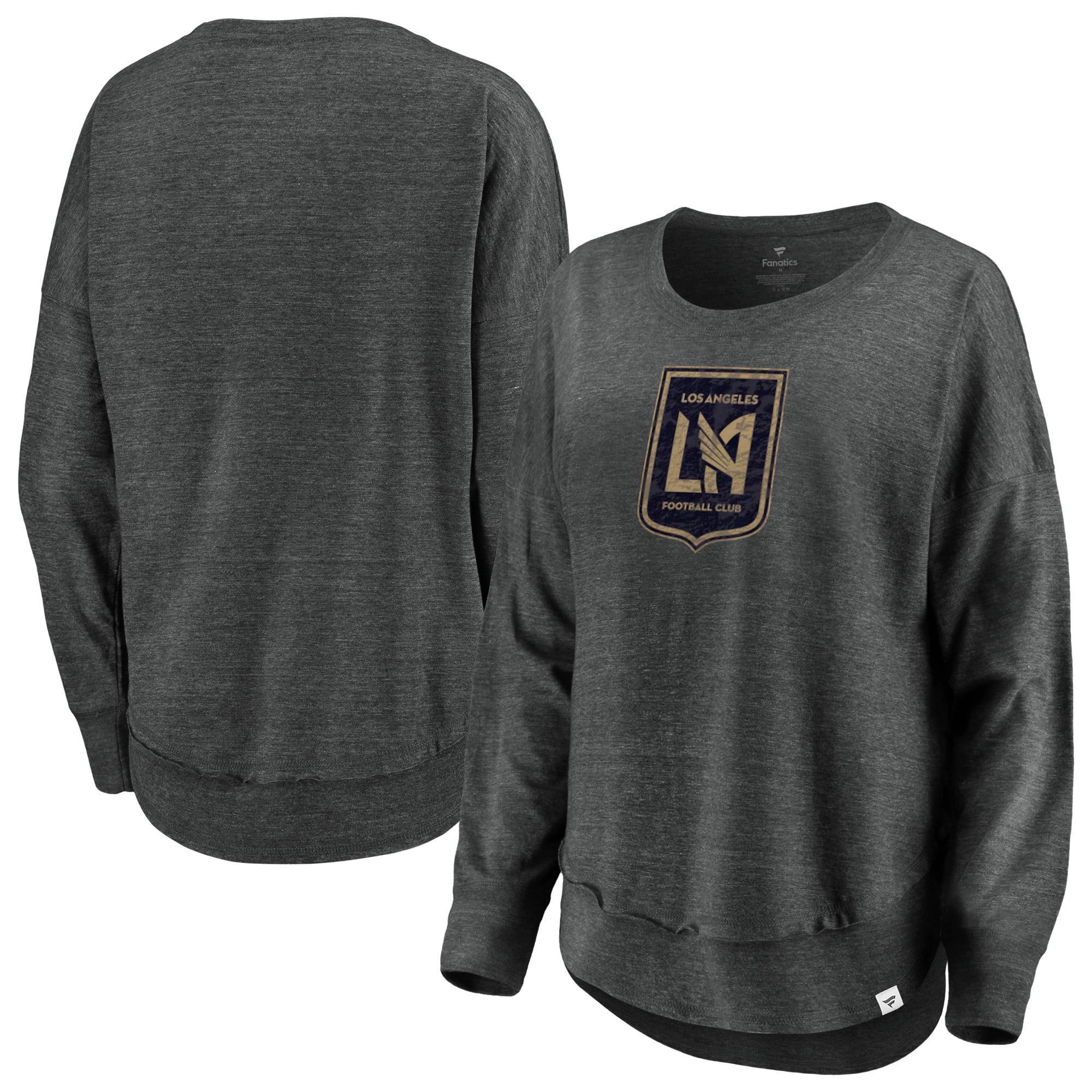 LAFC Fanatics Branded Women's Plus Size True Classics Amaze Tri-Blend Long Sleeve T-Shirt - Charcoal