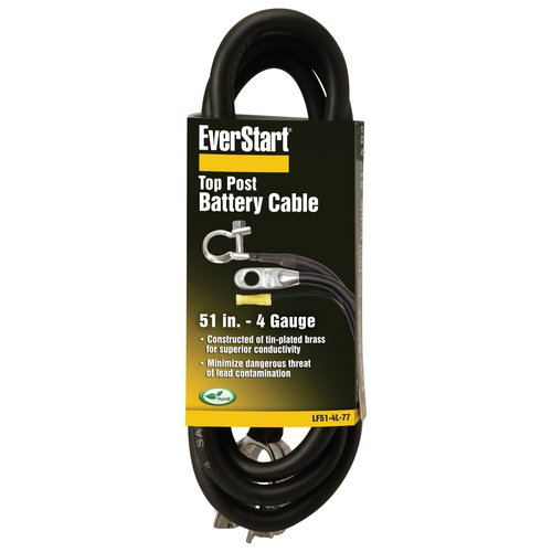 Everstart LF51-4L-77 4-Gauge Top Post Battery Cable, 51-Inches