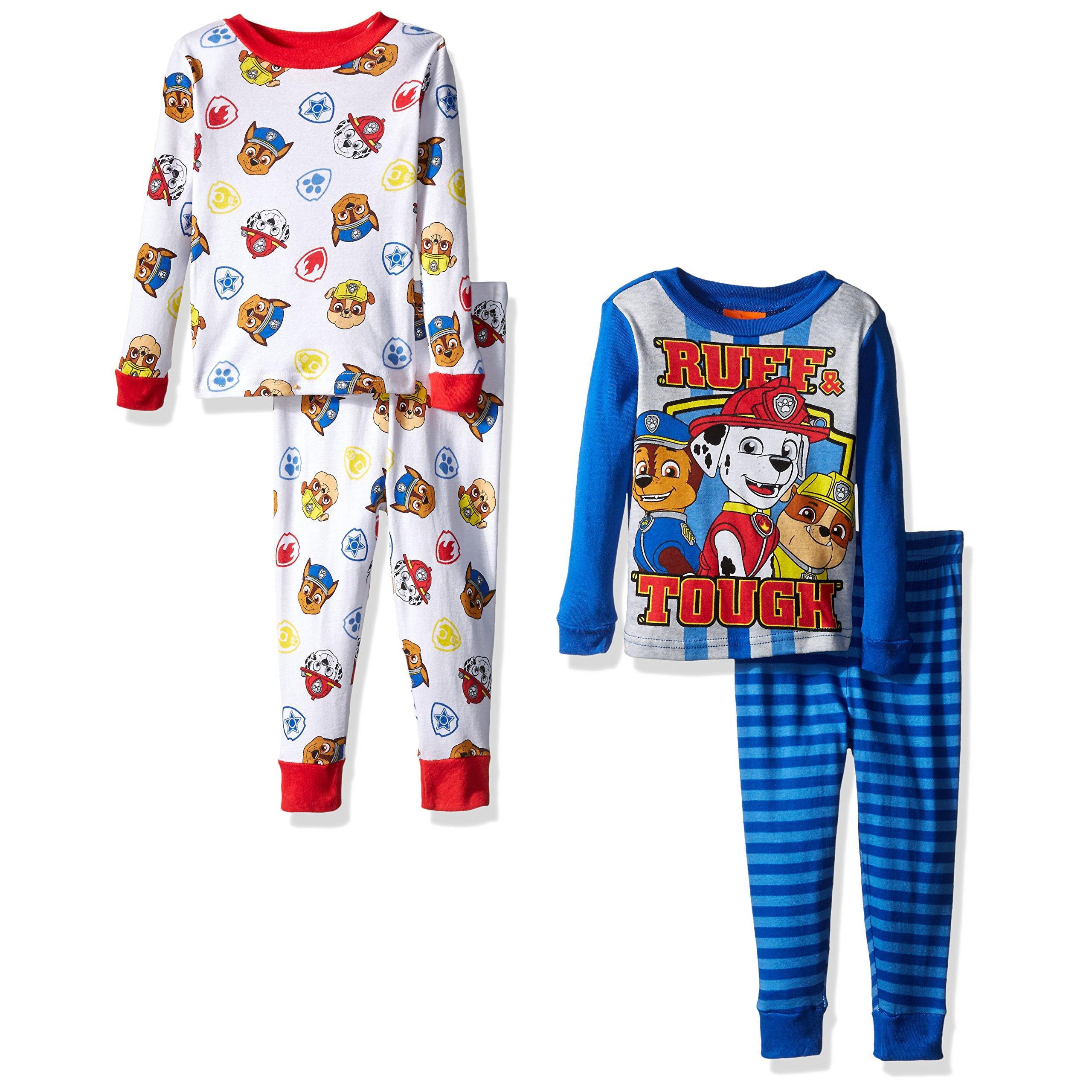 nickelodeon boys paw patrol toddler 4 piece pajama set