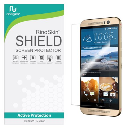HTC One M9 Screen Protector RinoGear Flexible HD Crystal Clear Anti-Bubble Unlimited Replacement Film (Hkc Replacement Screen)