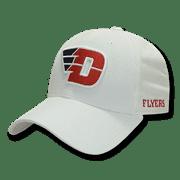NCAA Dayton University Flyers Structured Corduroy Baseball Caps Hats White