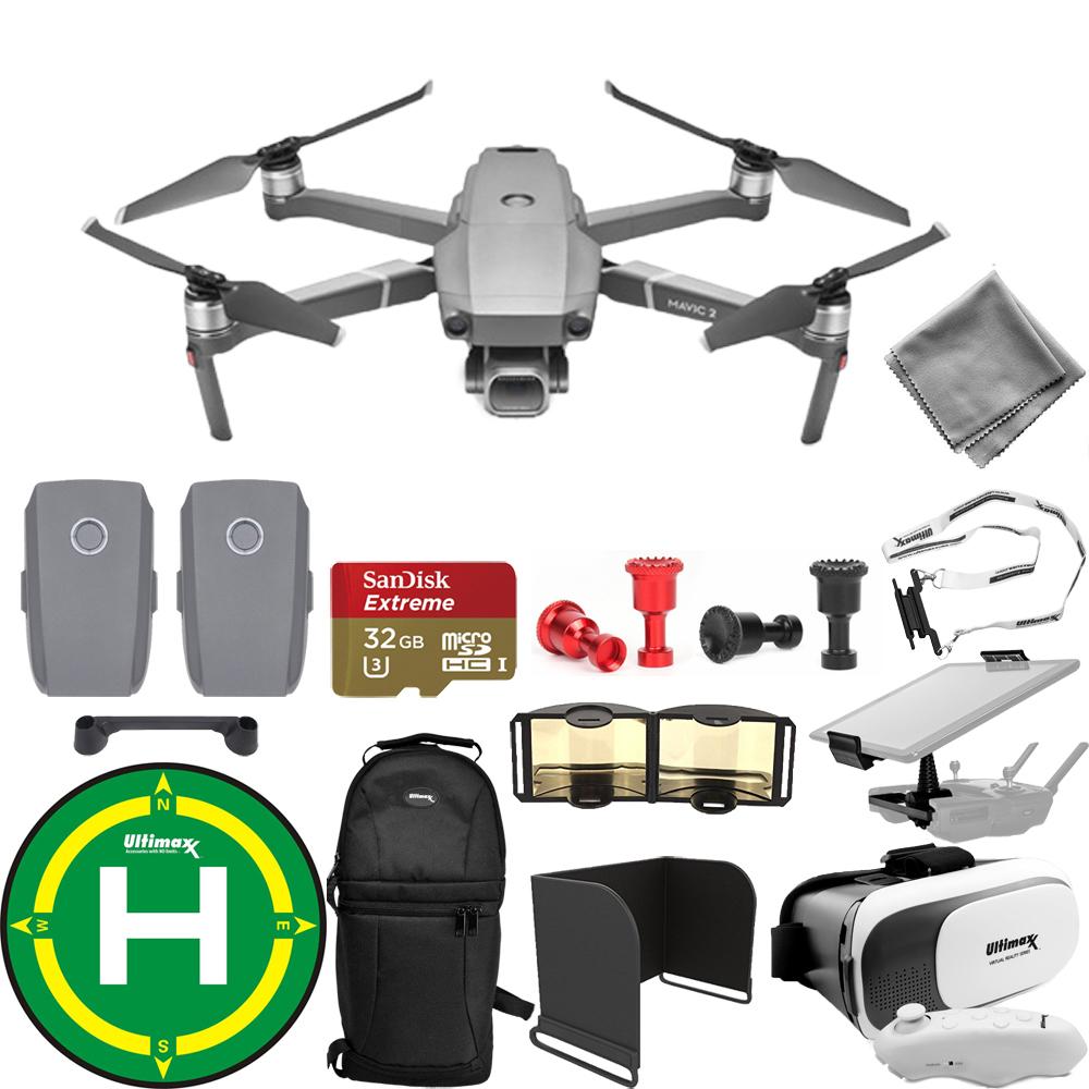 DJI Mavic 2 Pro W  20MP Hasselblad UHD 4K Gimbal Camera 2 Battery Accessory Kit by