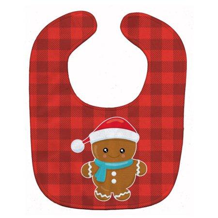 Carolines Treasures BB8777BIB Christmas Gingerbread Santa Hat Baby Bib - image 1 of 1