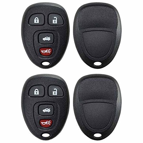 2 PACK KeylessOption Just the Case Keyless Entry Remote Key Fob Shell for 2005-2012 Chevy Pontiac Buick Saturn Vehicles