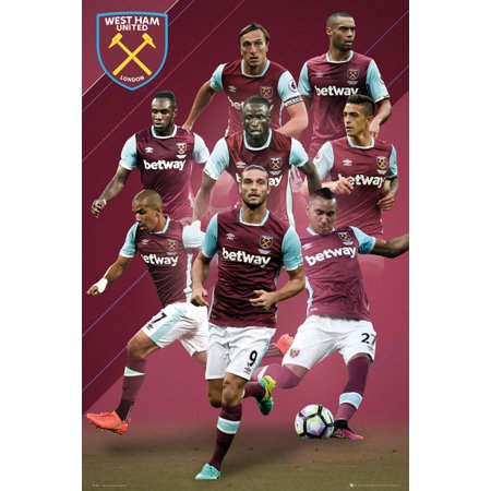 West Ham United - Soccer Poster / Print (The Players - 2016/2017) (Size: 24