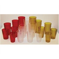 winco ptp-32r red pebbled tumblers