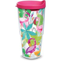 Tervis 24 oz. Flamingo Fun Tumbler With Lid 24 oz. Tumbler Pink