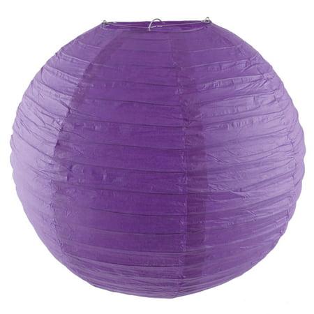Party Paper Round Handmade DIY Hanging Decor Lantern Light Purple 16 Inch Dia - image 7 of 7