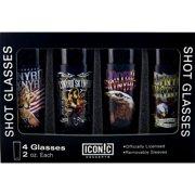 Lynyrd Skynyrd 4-Piece Shot Glass Set by Iconic