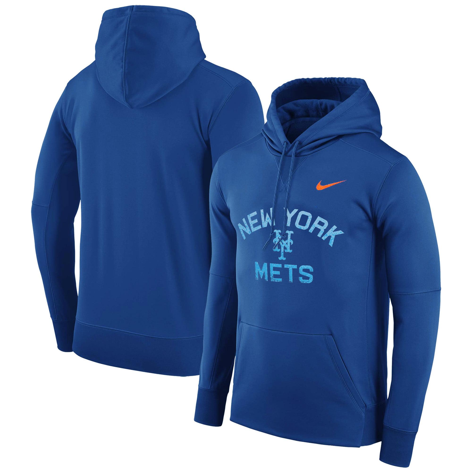 New York Mets Nike Therma Pullover Hoodie - Royal