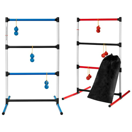 Outdoor Toss Games (Portable Ladder Ball Toss Game Family Indoor Outdoor Game Sport 12 Balls W/)
