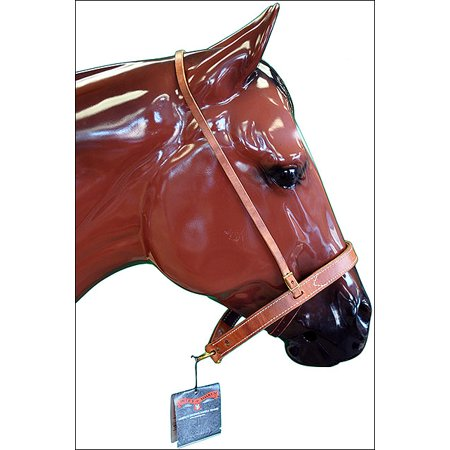 Nylon Cavesson - HORSE TACK LEATHER NOSEBAND/CAVESSON COMBO BY CIRCLE Y