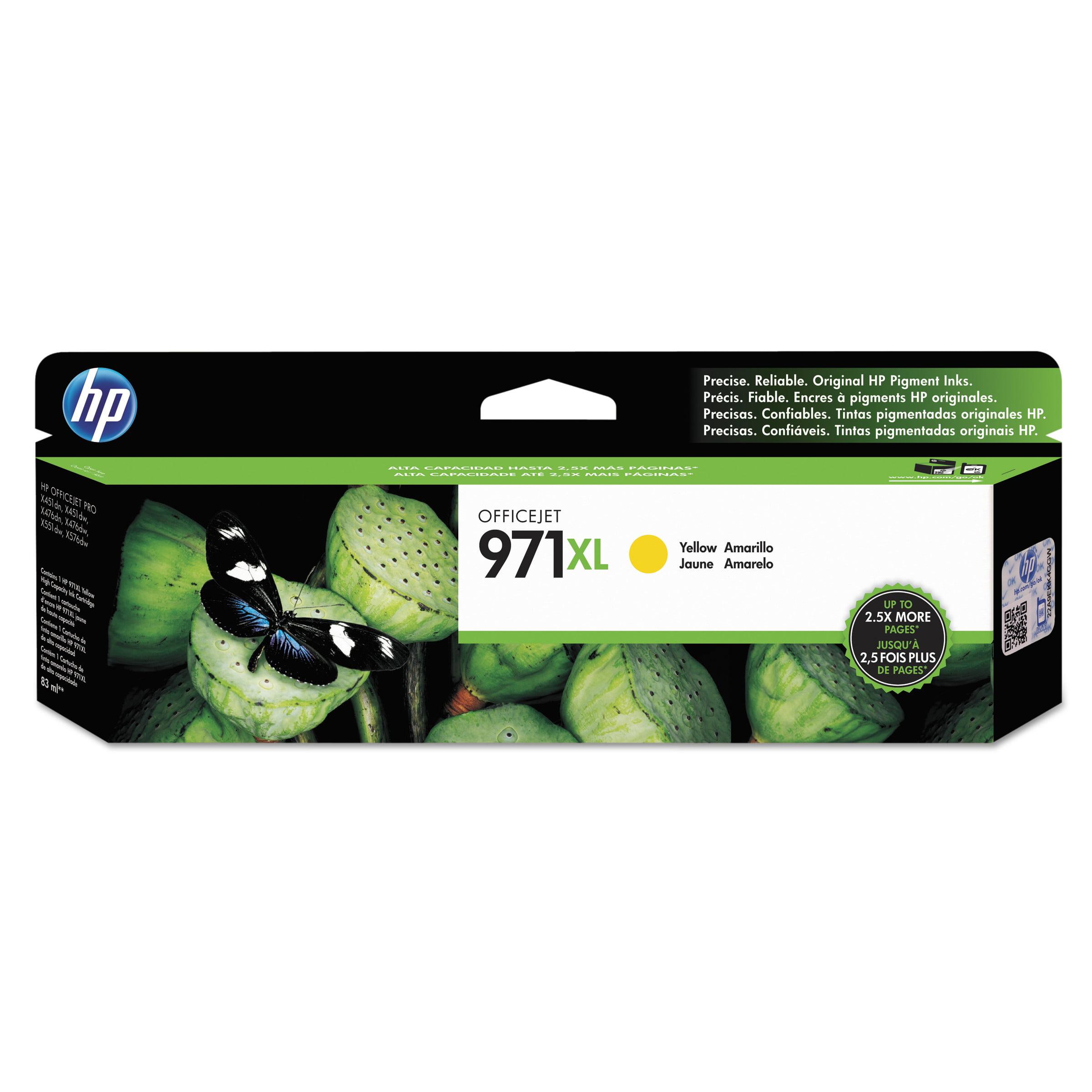 HP 971XL, (CN628AM) High Yield Yellow Original Ink Cartridge by HP