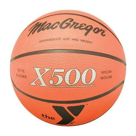 Logo Basketball - MacGregor Rubber Basketball with YMCA Logo-Size:Intermediate 28.5