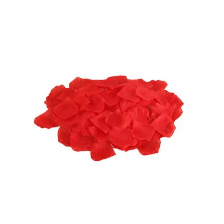 100 PCS Simulated Rose Petals Artificial Flower Wedding Party Aisle Decoration Wedding Room and Bed Atmosphere Arrangement Supplies Rose Petals Aisle