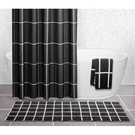 Enjoyable Sparrowhawk Brandon 100 Cotton Reversible 22 X 60 Black Interior Design Ideas Ghosoteloinfo