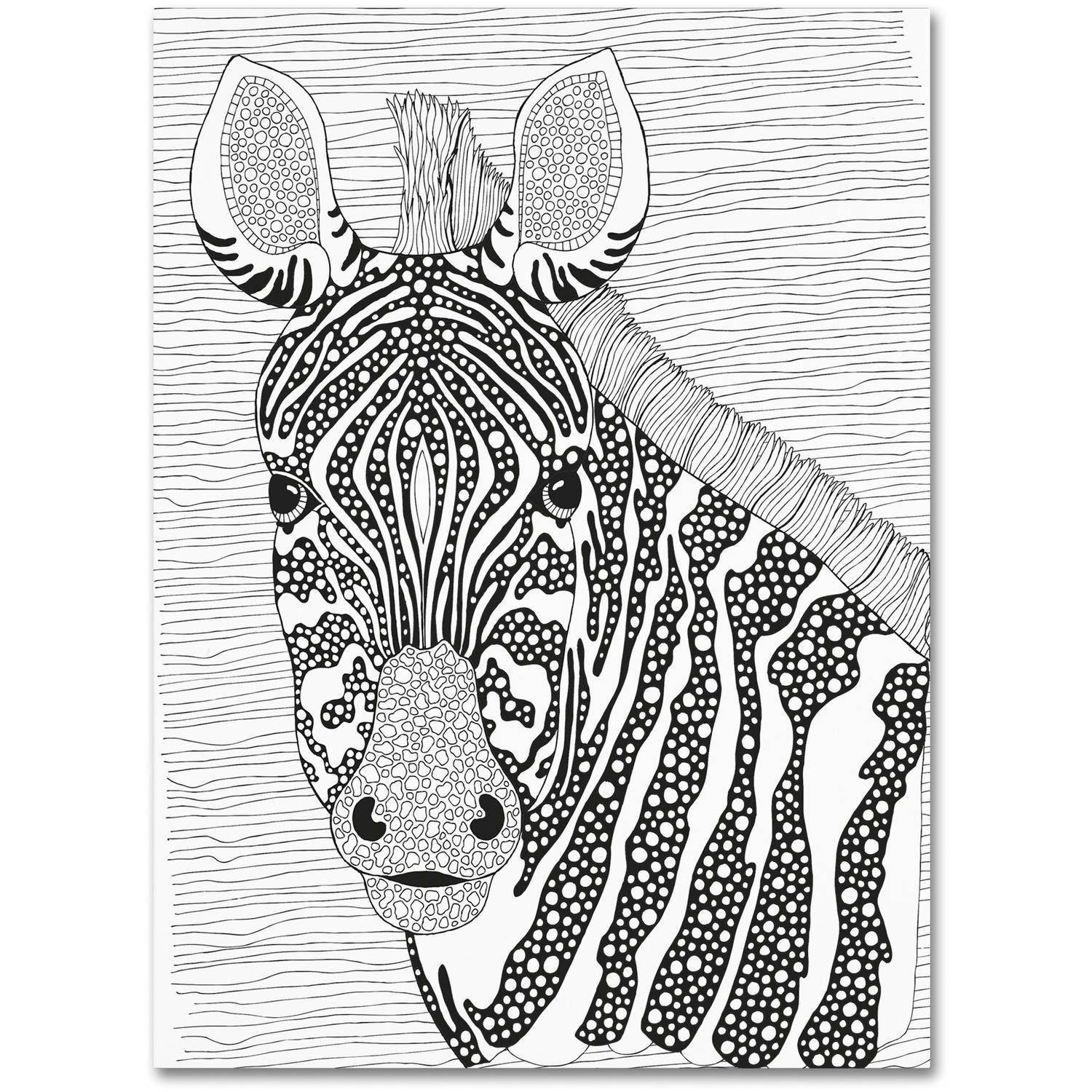 "Trademark Fine Art ""Animals 18"" Canvas Art by Hello Angel"