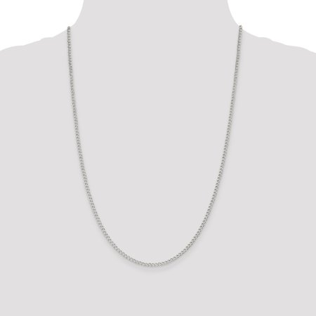 925 Sterling Silver 2.5mm Wide Curb Chain 18 Inch - image 5 de 5